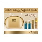 STEM CELL сет за патување (гел лифтинг + крема за подмладување + лосион + пена) ANESI