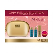 DNA REJUVENATION сет за патување (гел лифтинг + DNA крема + лосион + пена) ANESI